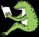 読書するカエル