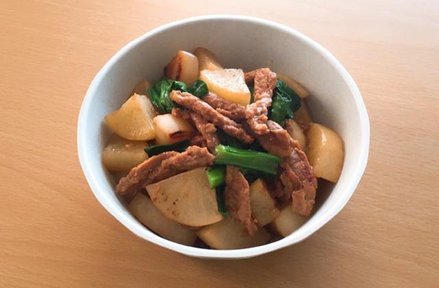 大根と大豆ミートの甘辛炒め
