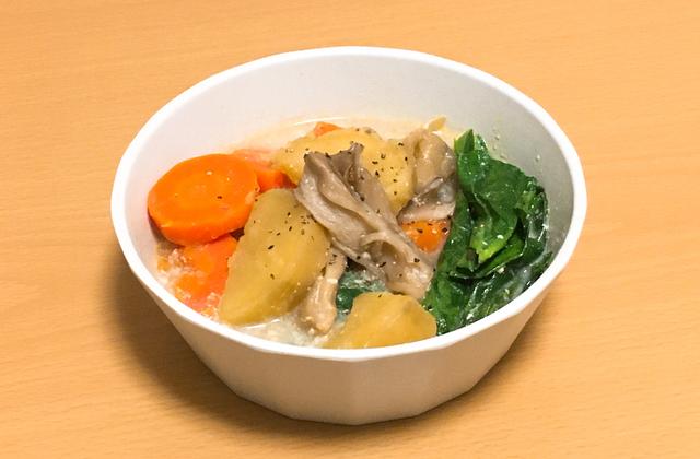 さつまいもと人参の豆乳スープ