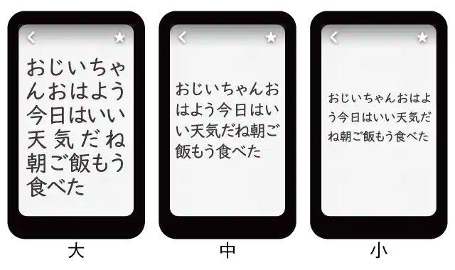 ポケトークmimi 文字サイズ