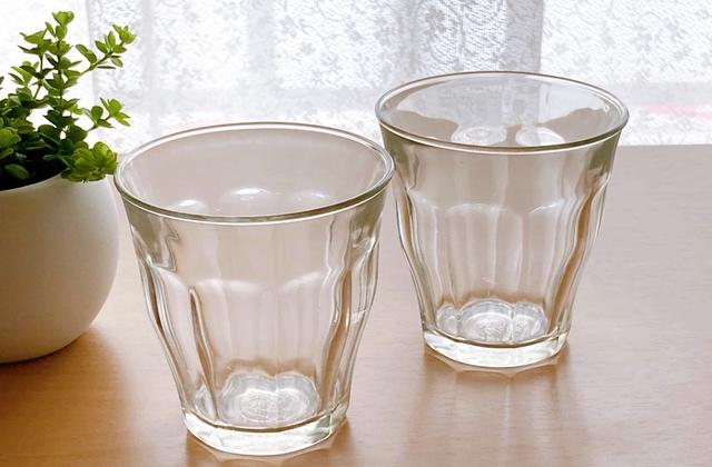 グラスの水垢(ビフォー)
