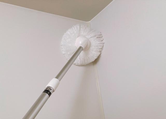 浴室の壁の掃除